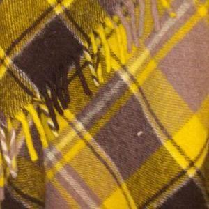 faribault wool plaid blanket tassels 52 x 52